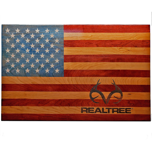 Realtree Veteran Made American Flag Wall Decor