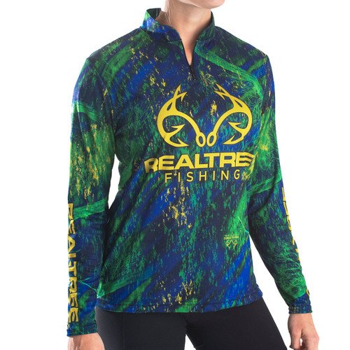 Professional Women's Realtree Fishing Banded Zipper Jersey