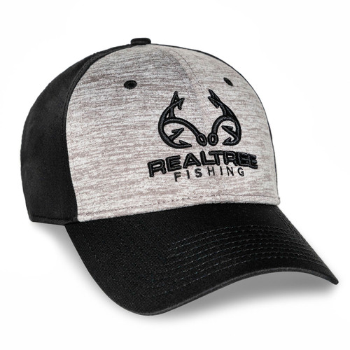 Custom Realtree Black and Gray Fishing Logo Hat