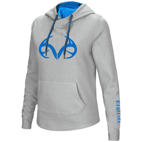 Realtree Outfitters Women's Charcoal Hoodie with Blue Logo