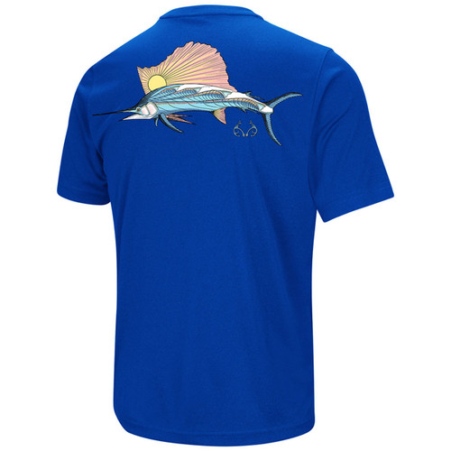 Realtree Men's Fishing Sailfish Blue Shirt Back