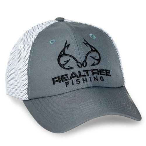 Realtree Fishing CoolQwick Gray Mesh Back Hat