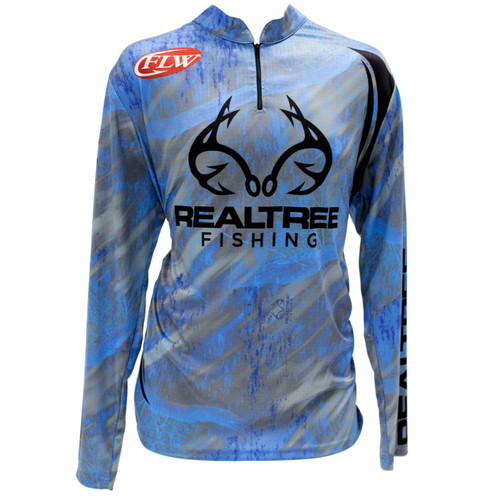 Realtree Fishing Gray Banded Zipper Tactical Jersey