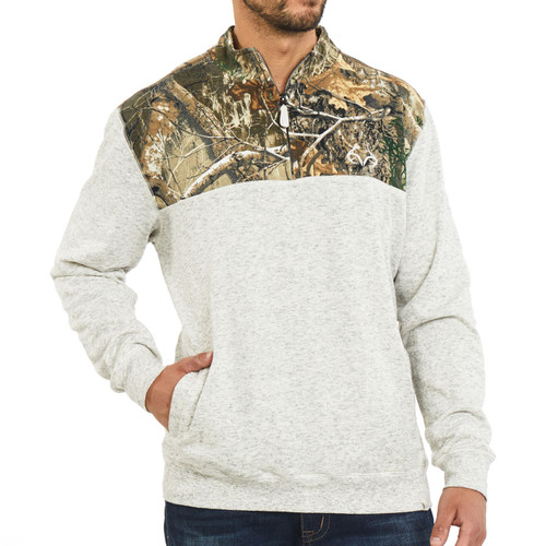Realtree Men's Edge 1/4 Zip Fleece Jacket