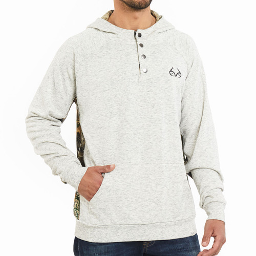 Realtree Edge Fleece Henley Hooded Pullover