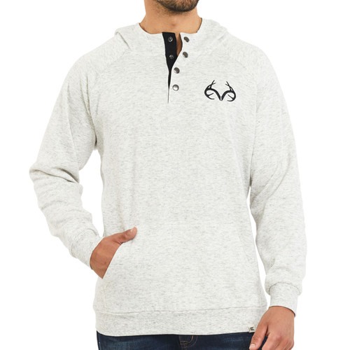 Realtree Hooded Henley Fleece Pullover
