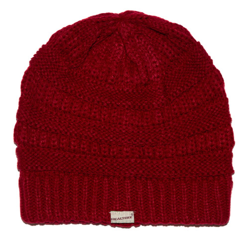 Classic Women's Knit Beanie in Red