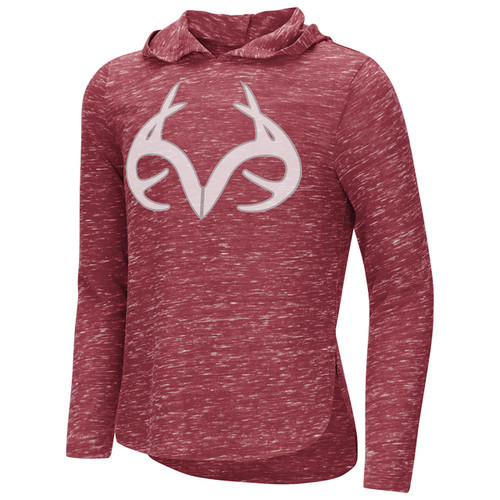 Realtree Girls Speckled Fleece Hooded Shirt