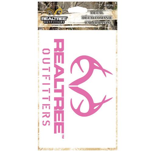 Realtree Pink Antler Decal in Packaging
