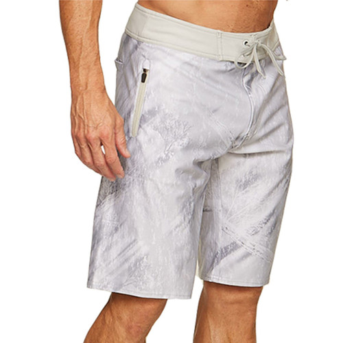 Realtree Men's Fishing BoardShorts White - Front