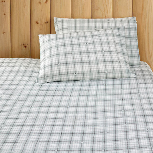 Realtree Antler Gray Plaid Sheet Set
