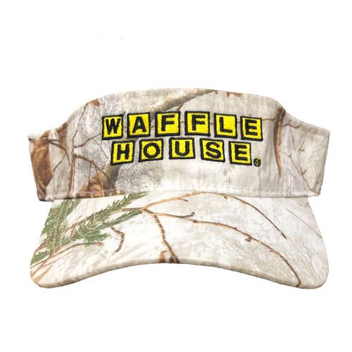 Waffle House Xtra Snow Camo Visor