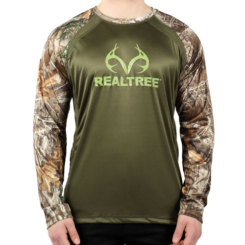 Men's Active Green Longsleeve Logo Shirt