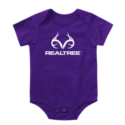 Infant Antler Logo Onesie Purple