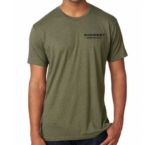 MidWest Whitetail Signature Series Two Tee Green Front
