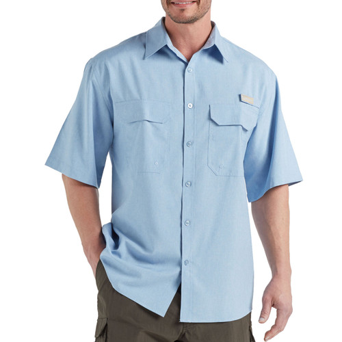 Men's Fishing Angler Fishing Shirt Blue