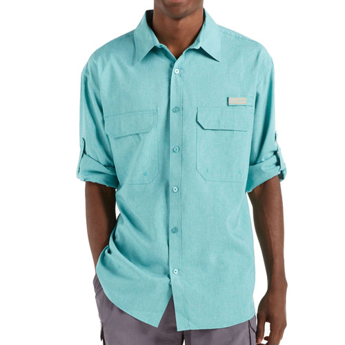Men's Fishing Angler Fishing Shirt Teal