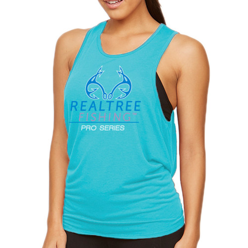 Lake Life Tie-Back Tank Teal