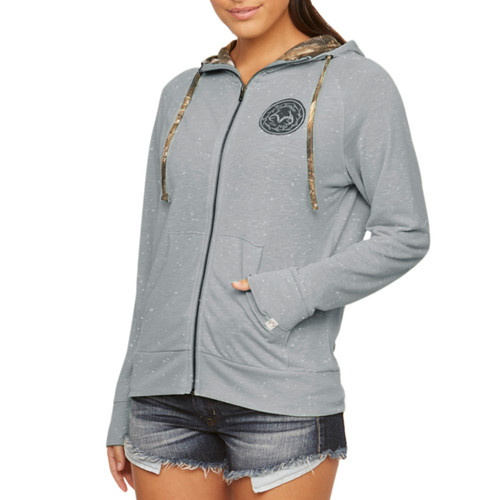 Farmhouse Full Zip Hoodie in Gray