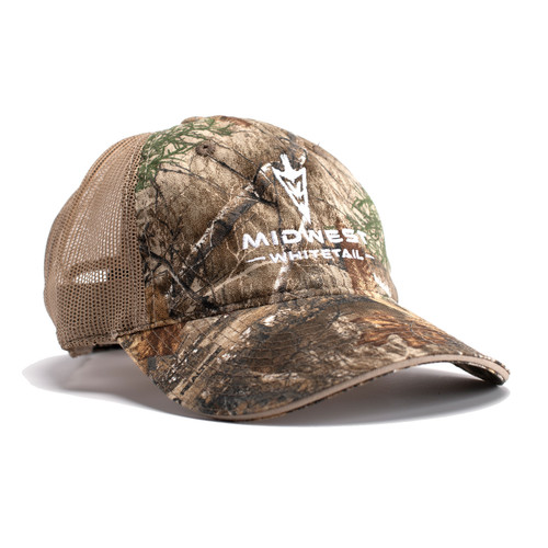 MidWest Whitetails Edge Camo Mesh Back Hat Side