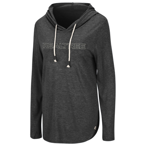 Women's Black Long Sleeve Hooded Tee