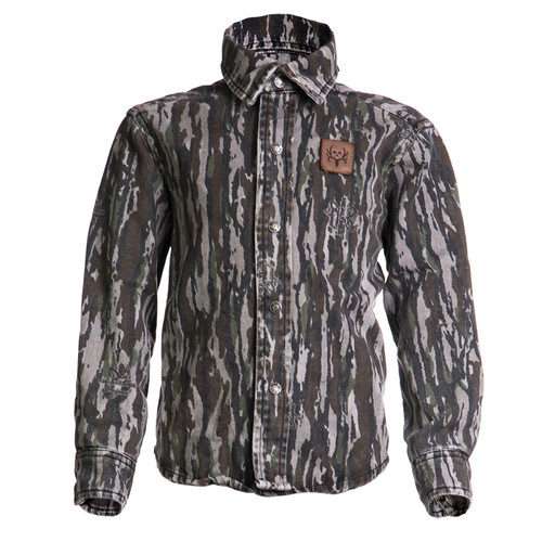 BC Raskulls Camo L/Sleeve Twill Button-Up Shirt