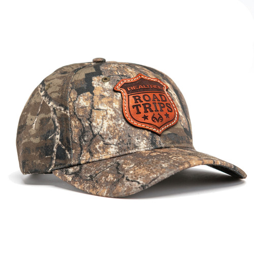 Realtree Road Trips Camo Limited Edition Leather Patch Richardson Hat in Timber