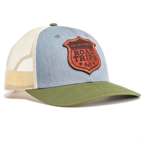 Realtree Road Trips Limited Edition Leather Patch Richardson Hat in Green