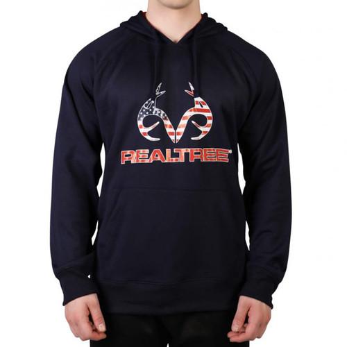 Realtree Men's Navy Americana Antler Hoodie