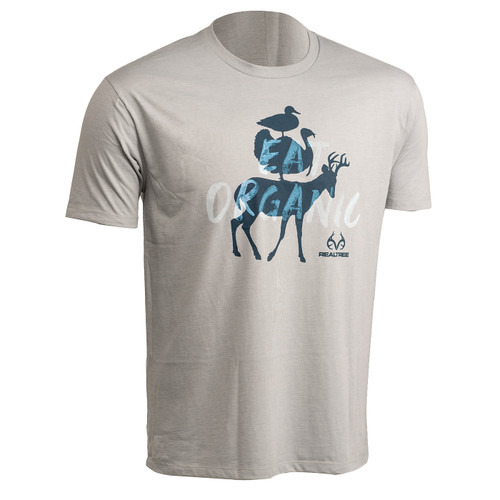 Realtree Pro Staff Short Sleeve Graphic Shirts - Gray