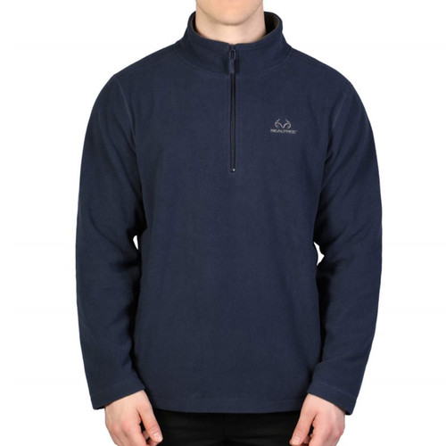 Men's Navy 1/4 Zip Fleece Jacket