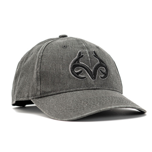 Realtree Black Heavy Washed Hat
