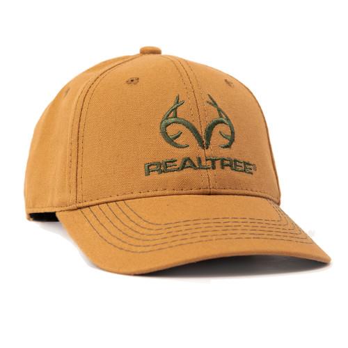 Realtree Logo Copper Canvas Cap