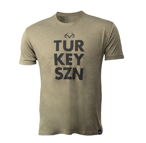 Men's Turkey SZN Short Sleeve Green Shirt