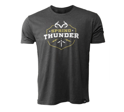 Realtree Men's Spring Thunder Short Sleeve Black Shirt