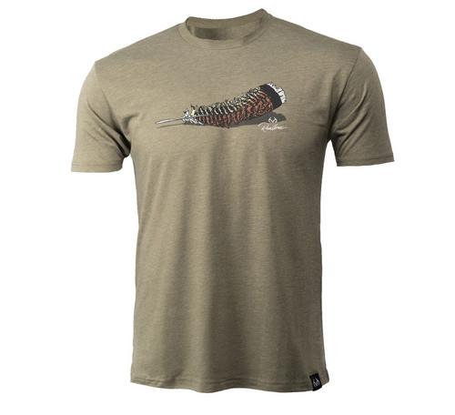 Men's Turkey Feather Short Sleeve Green Shirt