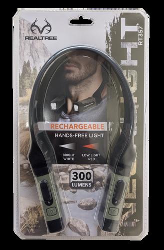 Realtree USB Rechargable LED Neck Light Hand Free Lighting in packaging