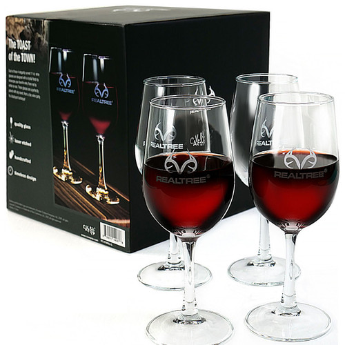 Realtree Wine Glasses - Set of 4