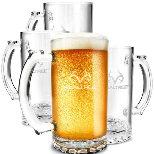 Realtree Beer Mug Glasses - Set of 4