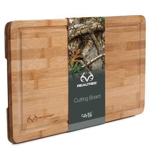 """Realtree 15x10"""" Bamboo Cutting Board & Serving Tray"""