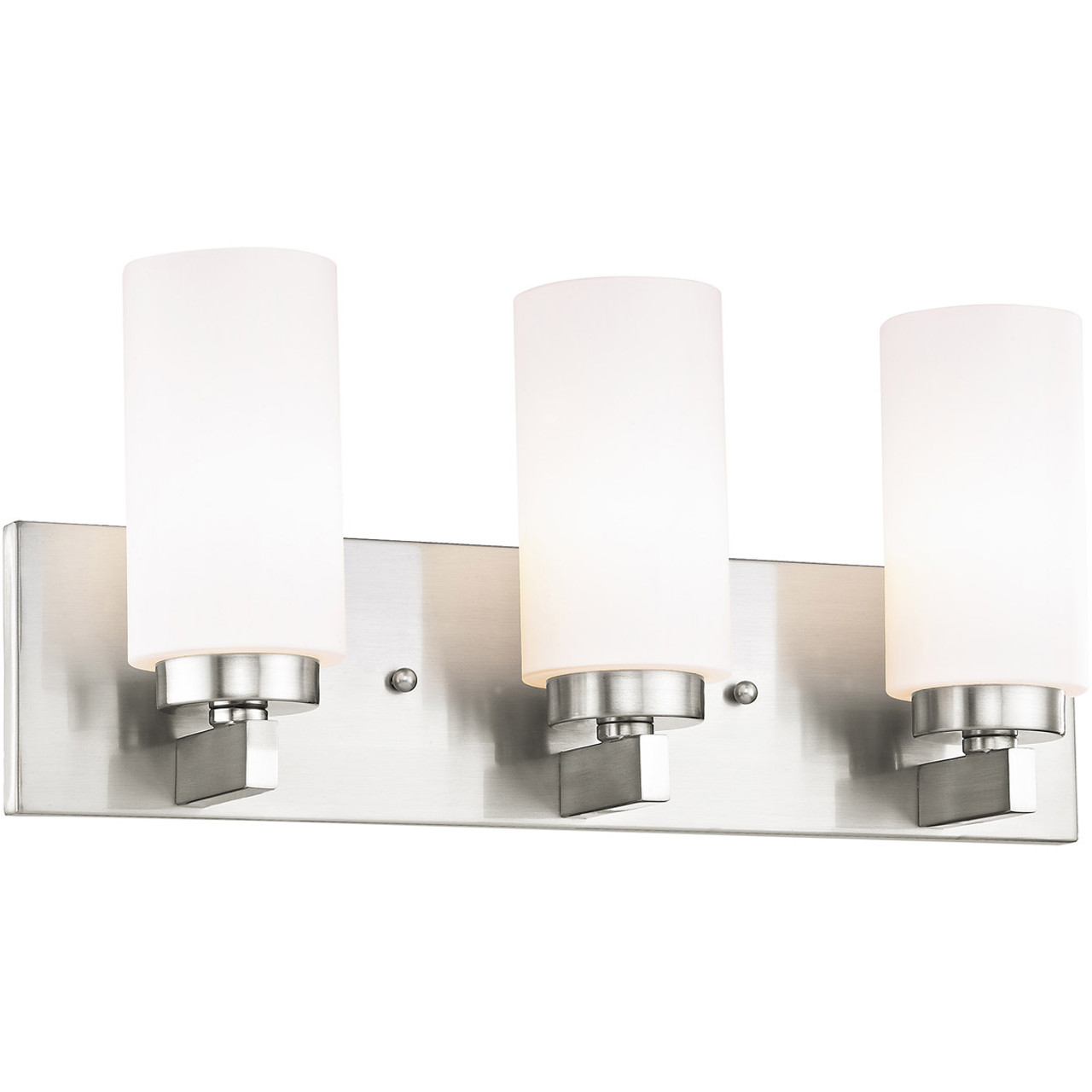 Livex Lighting West Lake Collection 3 Light Brushed Nickel Bath In 16373 91