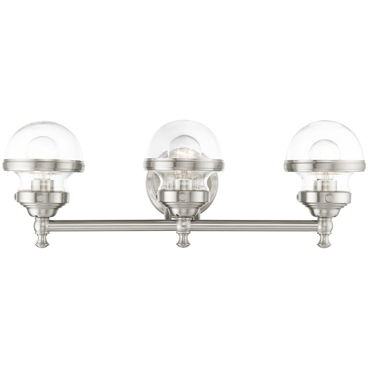 Livex Lighting Oldwick Collection 3 Lt Brushed Nickel Bath Vanity In 17413 91
