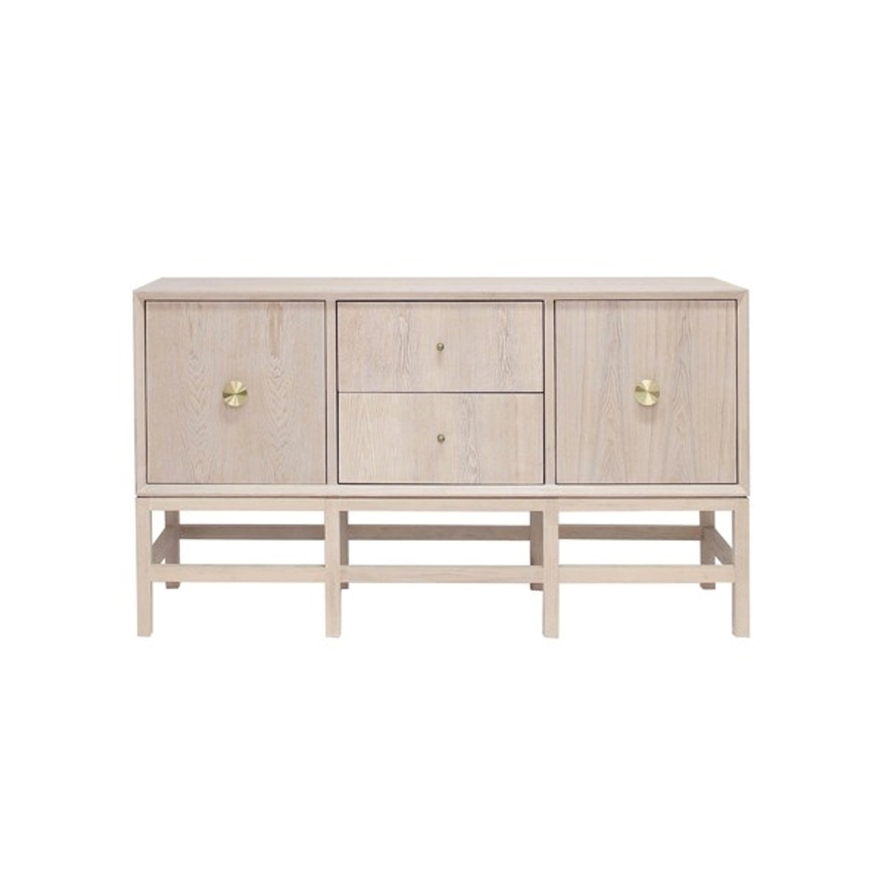 Worlds Away Lindhurst Buffet Cabinet In Cerused Oak With Antique Brass Hardware Lindhurst Co