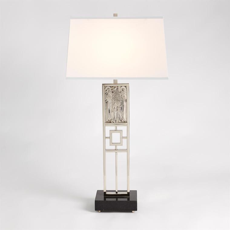 Global Views Republic Table Lamp-Nickel 9.93399