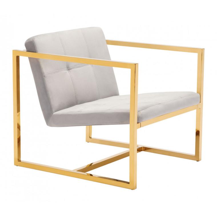 Zuo Alt Arm Chair Gray 101111