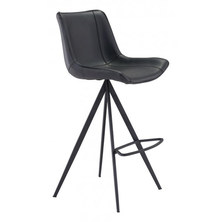 Zuo Aki Bar Chair Black (Set of 2) 101289