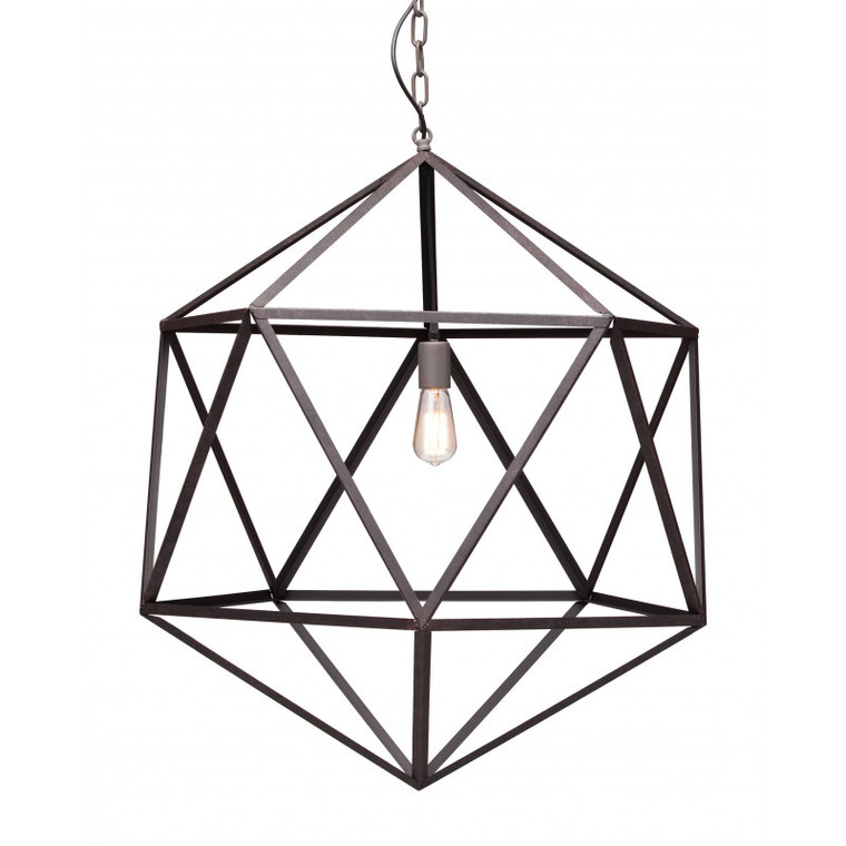 Zuo Amethyst Ceiling Lamp Large Rust 98242
