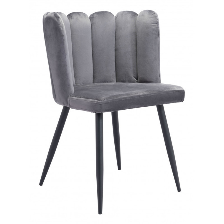 Zuo Adele Chair Dark Gray (Set of 2) 101524
