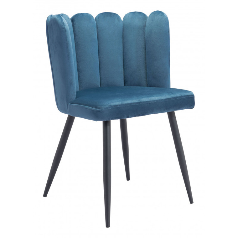 Zuo Adele Chair Steel Blue (Set of 2) 101525