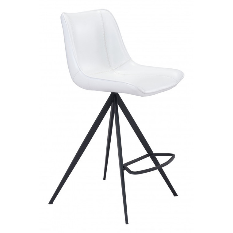 Zuo Aki Counter Chair White & Black (Set of 2) 101393